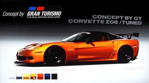 Concept by Gran Turismo Chevrolet Covertte Z06 /Tuned de -- - GT5 Prologue